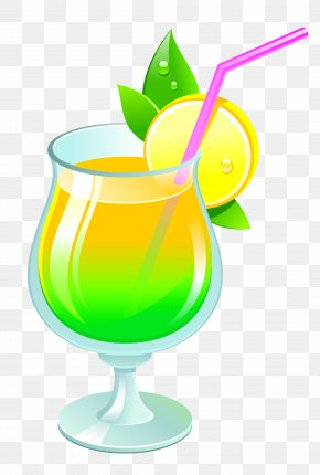 Transparent Summer Cocktail Clipar - Cocktail Garnish Non-alcoholic Drink Clip Art PNG