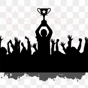 People Silhouettes Celebrating World Champion Image Download - Teamwork Motivation Quotation Team Building PNG