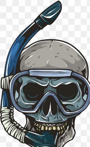Skeleton Diver - Underwater Diving Scuba Diving Skull Snorkeling Diving Mask PNG
