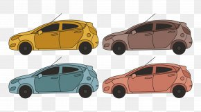 Vector Outline Ford Fiesta - Ford Motor Company Car Door City Car PNG