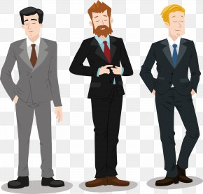 Three Men Suit - Leadership Management Style Executive Manager PNG