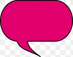 Pink Bubble - Speech Balloon Bubble Clip Art PNG