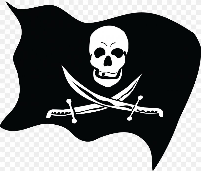 Jolly Roger Piracy Flag, PNG, 2500x2126px, Piracy, Black And White, Bone, Fictional Character, Flag Download Free