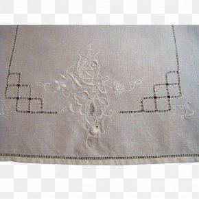 Embroidered Envelopes - Place Mats Rectangle Material Beige PNG
