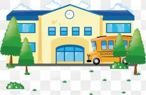 Vector Flat School - School Education Clip Art PNG