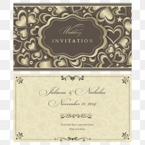 Gold Heart-shaped Pattern - Wedding Invitation Marriage Pattern PNG