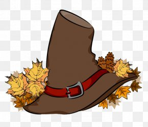 Transparent Brown Pilgrim Hat PNG Clipart - Pilgrim's Hat Thanksgiving Clip Art PNG