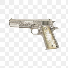 Gatling Gun - Dean Winchester M1911 Pistol Colt's Manufacturing Company .45 ACP Firearm PNG