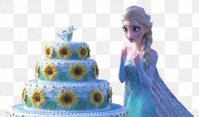 Frozen - Elsa Hans Kristoff Anna Birthday Cake PNG