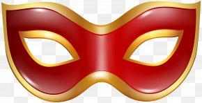 Carnival Mask Red Transparent Clip Art Image - Mask Clip Art PNG