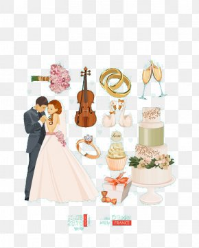 Elegant And Romantic Wedding Elements - Romance Wedding Illustration PNG