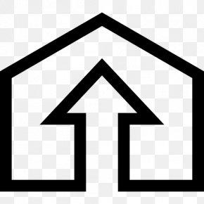 Home Symbol With Arrow - Roy Harper Clip Art PNG