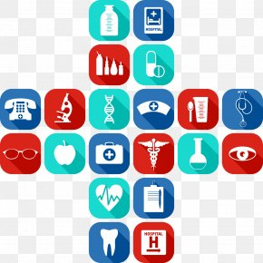 Vector Painted Flat Health Icon Medical Technology - Medicine Euclidean Vector Physician Icon PNG
