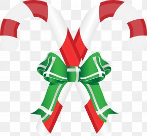 Christmas Candy - Candy Cane Ribbon Candy Christmas Clip Art PNG