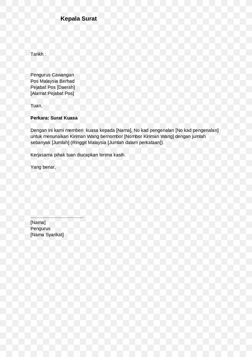 Document Letter Of Resignation Cover Letter, PNG ...