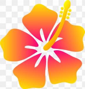 Hawaiian Cliparts - Hawaiian Flower Drawing Clip Art PNG