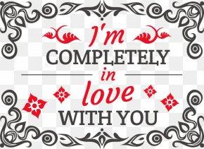 Red Valentine Element - Valentine's Day Sticker Decal Clip Art PNG