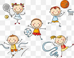 61 Cute Cartoon Kids Playing - Physical Education Clip Art PNG