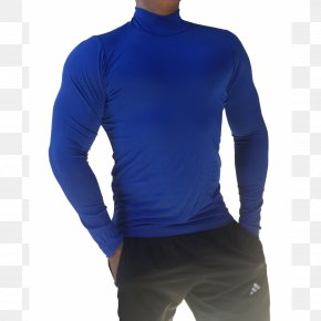 T-shirt - T-shirt Sleeve Polo Neck Blue PNG