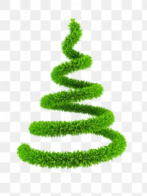 Creative Green Christmas Tree - Christmas Tree New Year Tree Clip Art PNG