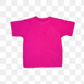 Shirt - T-shirt Pink Sleeve PNG