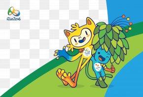 Rio Mascot Background - 2016 Summer Olympics 2016 Summer Paralympics Rio De Janeiro Mascot Vinicius And Tom PNG