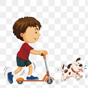 Vector Scooter - Stock Photography Royalty-free Boy Illustration PNG