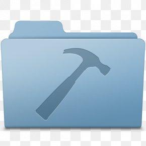 Developer Folder Blue - Blue Rectangle Font PNG