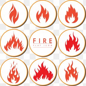 Various Shapes Of Fire Icon Collection PNG