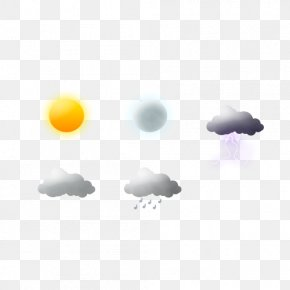 Five Kinds Of Weather Free Buckle Material - Weather Rain Cloud Euclidean Vector PNG