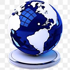 Sphere Electric Blue - Cobalt Blue Globe Blue World Earth PNG