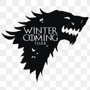 House Stark - Wall Decal Sticker House Stark Winter Is Coming PNG