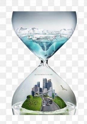Creative Hourglass - Global Warming Climate Change Natural Environment Atmosphere Of Earth PNG