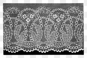 Lace Boarder - Lace Textile Pattern PNG