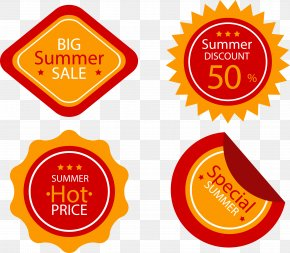 Summer Special Offer Tag - Label Clip Art PNG