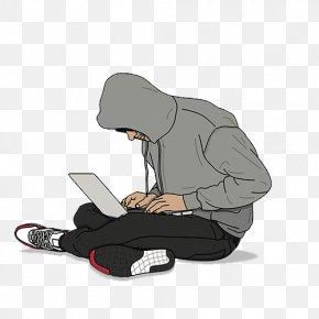 Sitting Cross-legged To Play The Computer Boys - Sneakers Shoe Nike Air Jordan Internet Bot PNG