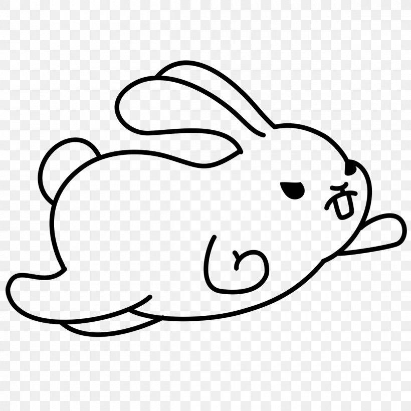 Domestic Rabbit Hare Easter Bunny Clip Art, PNG, 1200x1200px, Domestic Rabbit, Area, Black, Black And White, Carnivoran Download Free