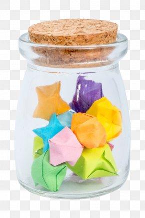 Wishing Star Glass Bottle - Glass Bottle PNG