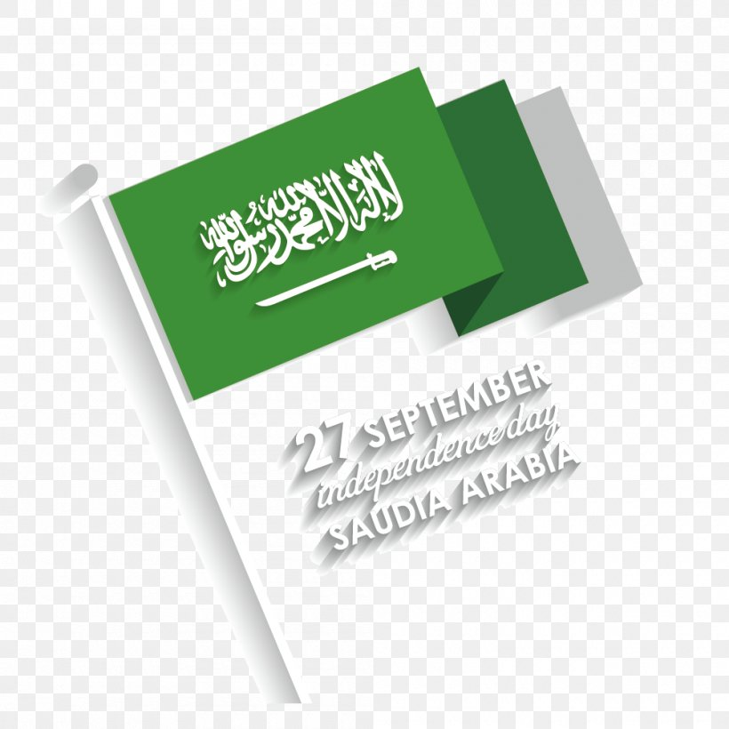 Flag Of Saudi Arabia Saudi National Day Intuitive Education Consultants, PNG, 1000x1000px, Saudi Arabia, Brand, Day, Drawing, Flag Download Free