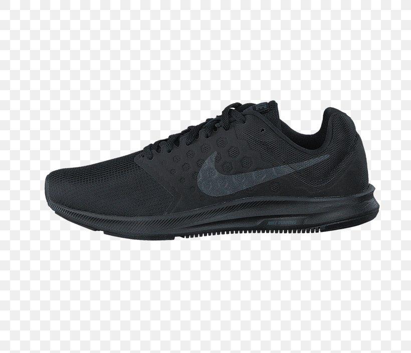 black nike athletic shoes