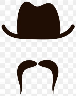 Movember Hat And Mustache Clipart Image - Moustache Beard Clip Art PNG