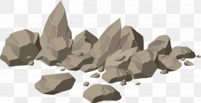 Brown Stone Heap Vector - Rock Royalty-free Boulder Illustration PNG