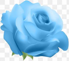 Deco Rose Blue Clip Art - Blue Rose Clip Art PNG