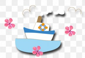 Cartoon Sailing Ship - Sailing Ship Cartoon PNG