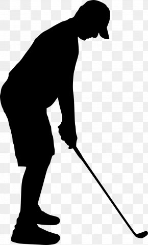 Silhouette - Silhouette Golfer Clip Art PNG