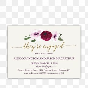 Floral Invitation - Wedding Invitation Flower Floral Design Engagement Party Purple PNG