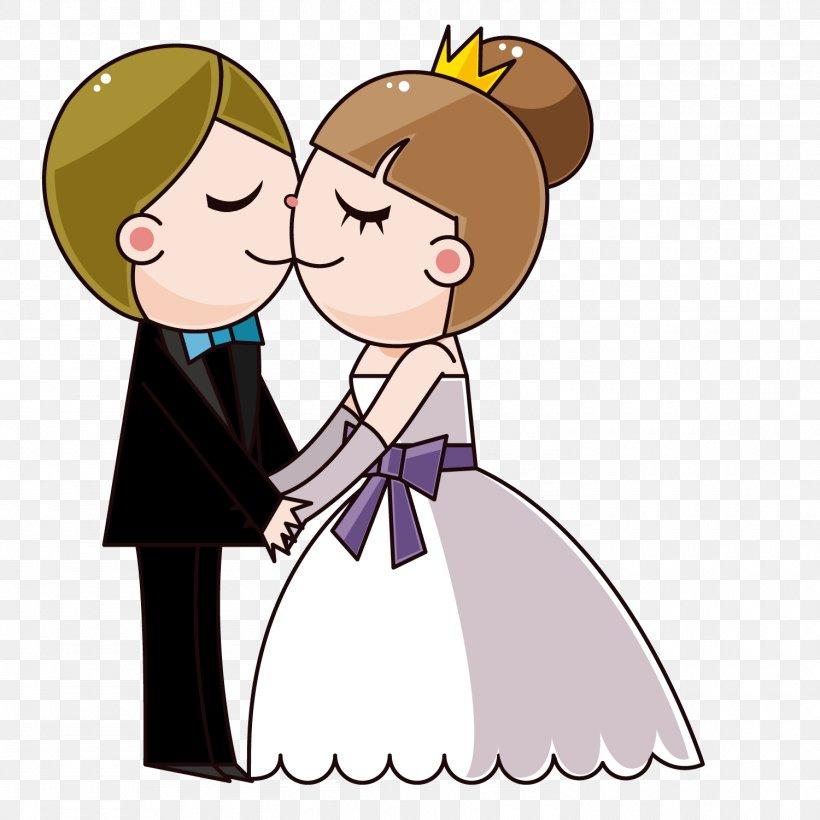 Wedding Invitation Bride Cartoon, PNG, 1500x1500px, Watercolor, Cartoon, Flower, Frame, Heart Download Free