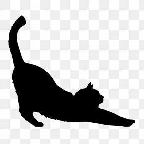Cat Vector - Black Cat Silhouette Kitten Clip Art PNG