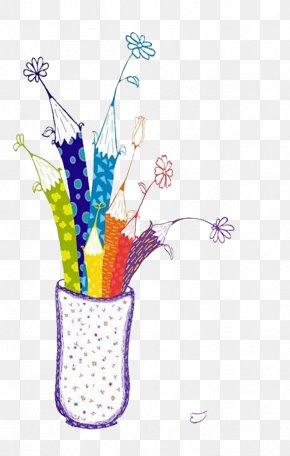 Vase - Brush Pot Illustration PNG