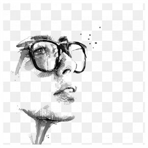France Black And White Illustrations - Portrait Painting Drawing Behance Illustration PNG